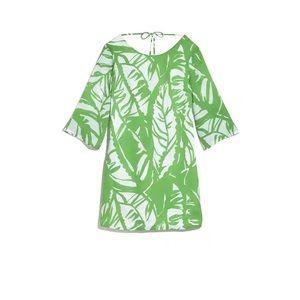 Lily Pulitzer green floral with v line back target